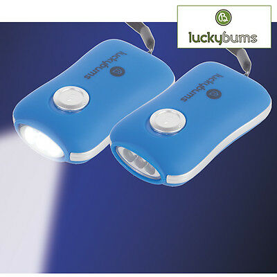 Pack of 2 Hand Crank Rechargable Dynamo LED Flashlights No Batteries Needed!