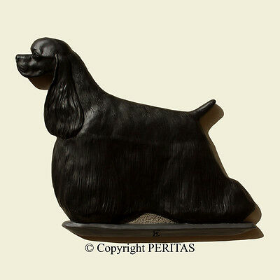 American Cocker Spaniel dog PERITAS wall sculpture statue art relief painting