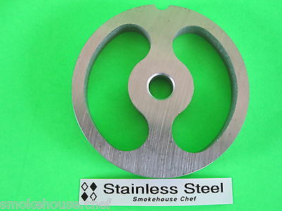 size #12 S//S Meat Grinder sausage stuffing kidney disc plate WITH TWO TABS