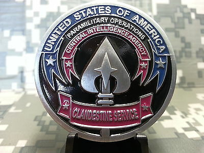 CIA PARAMILITARY OPERATIONS CLANDESTINE SERVICES INTELLIGENCE CHALLENGE COIN