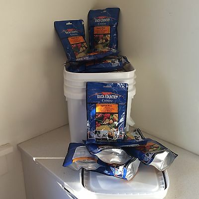 BACK COUNTRY CUISINE Freeze Dried Food 20 Pouches INSTANT RICE in FREE Tub