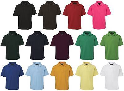 Kids Polo Shirt 2KP | Boys Girls Childrens Plain School Casual, 2 4 6 8 10 12 14