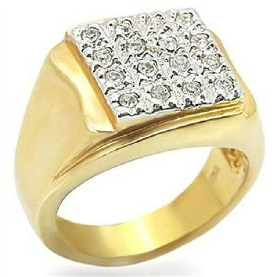 14K gold ep mens 2.8ct diamond simulated ring sz 8-13 you choose the size