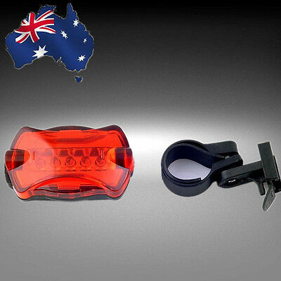 Bicycle Bike Cycling 5 Led Tail Rear Safety Flash Light Lamp Red OBLIT1981