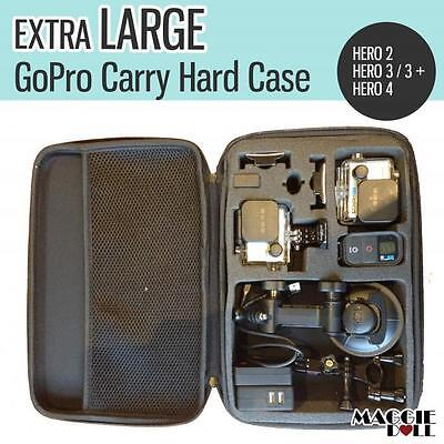 Extra Large GoPro Travel Storage Carry Hard Bag Case  Go PRO HERO 7 6 5 4 3 2