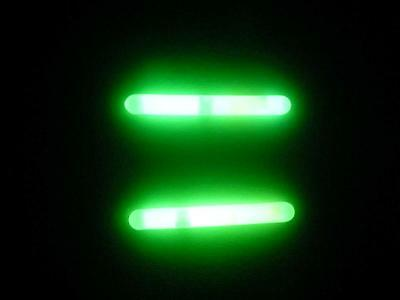 50 DFS POWDER NIGHT FISHING GLOW LIGHT STICK 4.5mm x 38mm, 12 HOUR GLOW TIME