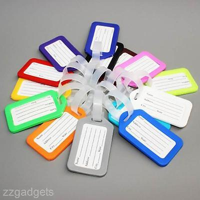 10PCS Utility Travel Luggage Name Address ID Suitcase Bag Baggage Tags Labels
