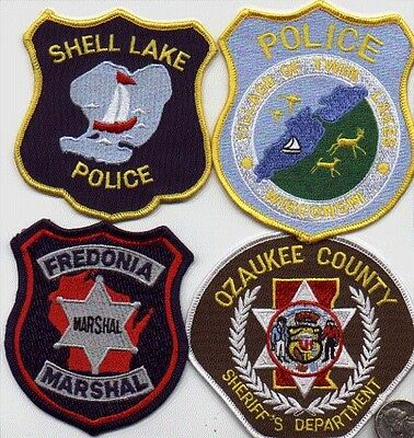 WISCONSIN POLICE DEPARTMENT 1 PATCH OZAUKEE COUNTY SHERIFF LAW OFFICER