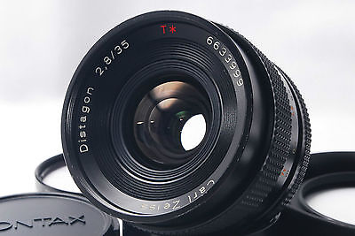 "CONTAX Carl Zeiss Distagon 35mm f/2.8 T* AEJ Lens ""Excellent+++"" from Japan"