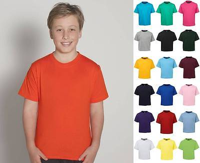 Kids Tee Shirt 1KT | Childrens T-Shirt, Boys, Girls, Tshirt, School, Plain T