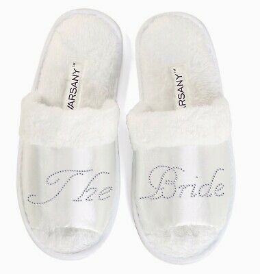 New Hot Pink Hen Party Crystal Spa Slippers Wedding Gift Brides personalised(OT)