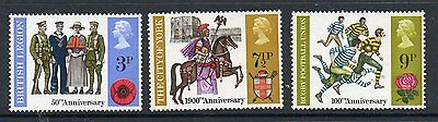 GB 1971 Anniversaries unmounted mint set stamps
