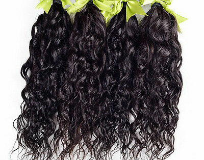"100% Brazilian Virgin Human Hair Natural Wave Weave EXTENSION,100g,12"" - 28"" 1pc"