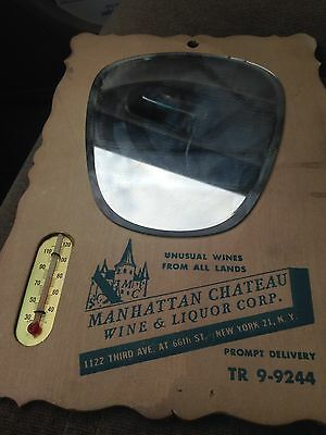 Vintage Wine/ Liquor  Mirror With Thermometer