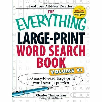 Everything Large-Print Word Search Book Volume VI Timmerman Adams. 9781440559945