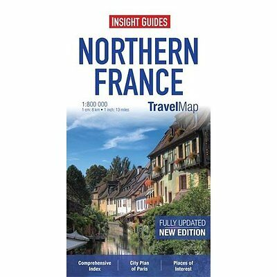 Insight Travel Map: Northern France 4e Guides Sheet 9781780054865