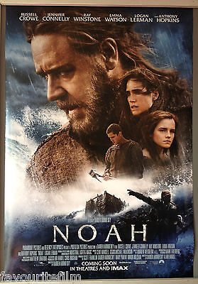 Cinema Poster: NOAH 2014 (Main One Sheet) Russell Crowe Anthony Hopkins