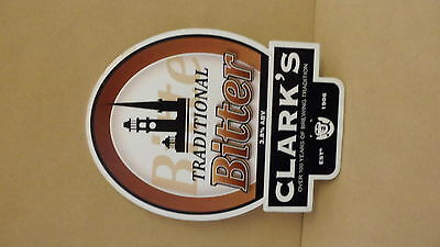 Clarks Traditional Bitter Ale Beer Pump Clip Bar Collectible