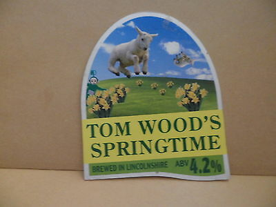 Tom Woods Springtime Ale Beer Pump Clip Pub Bar Collectible 25