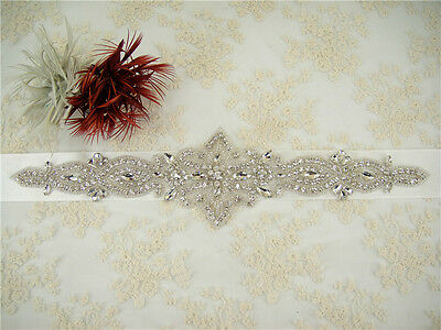Stunning Ivory Wedding Sash Rhinestone Bridal Belt Wedding Accessories Waistband