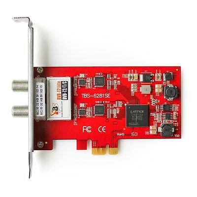 TBS 6281SE Dual Freeview HD PCI Express Card DVB-T2/T/C TV Tuner PCIe Card