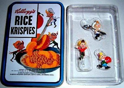 Kelloggs Rice Krispies Vintage Box Designed Tin Containing Three Ornaments of Sn