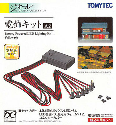 TOMIX N Scale 1/150 TOMYTEC Diorama Battery-Powered LED Lighting Kit A2 : Yellow