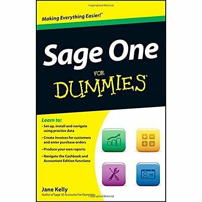 Sage One For Dummies Jane Kelly John Wiley Sons Inc PB / 9781119952367