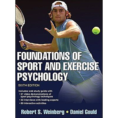 Foundations Sport Exercise Psychology 6e Weinberg Gould Human Kin. 9781450469814