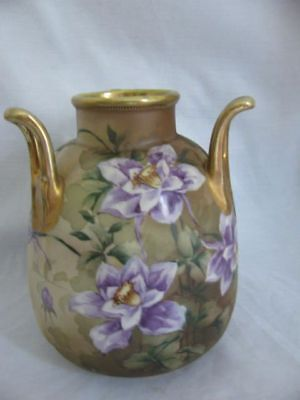Noritake Nippon 3 Handled Vase Mark #52
