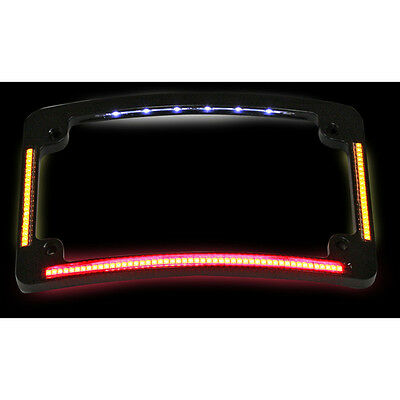 Custom Dynamics Black Quad Radius All in One LED License Plate Frame