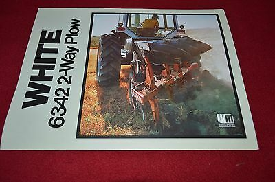 White Oliver Tractor 6342 2-Way Plow Dealer's Brochure PBPA