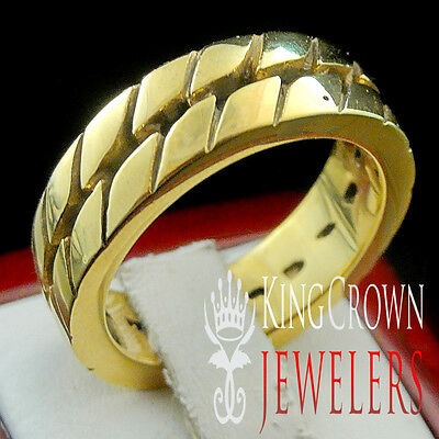 New 14k Yellow Gold Finish Mens Real Stainless Steel Designer Plain  Pinky Ring