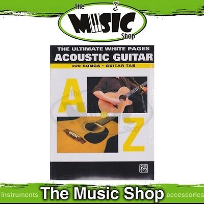 New The Ultimate White Pages for Acoustic Guitar Music Book with Tab