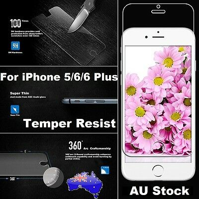 Scratch Resist Tempered Glass Screen Protector for Apple iPhone 5S 6 6S 7 Plus