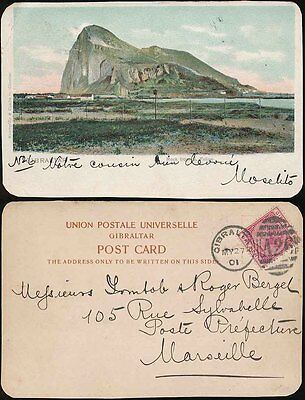 Gibraltar Qv 1901 Early Picture Postcard A26 Duplex