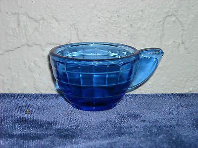 Akro Agate Small Stacked Disc and Interior Panel Cup  Cobalt Blue