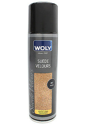 Woly Suede Velours Leather Spray Wax For Shoes Boots & Handbags 250ml - Ocean
