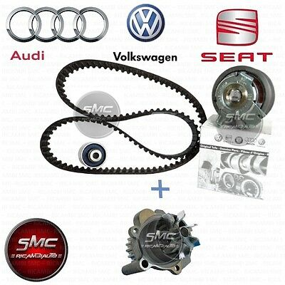 KIT DISTRIBUZIONE ORIGINALE VW + POMPA ACQUA AUDI A3 GOLF V PASSAT 1.9 TDI 105cv