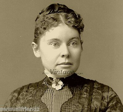 Haunted Spooky Lizzie Borden Photo The Infamous Accused Axe Murderss Old Vintage