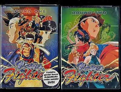 Virtua Fighter - Complete Series Collection 1 & 2 - Brand New 4 DVD Anime Set