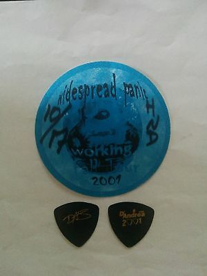 Widespread Panic Guitar Pick and Working Backstage Pass
