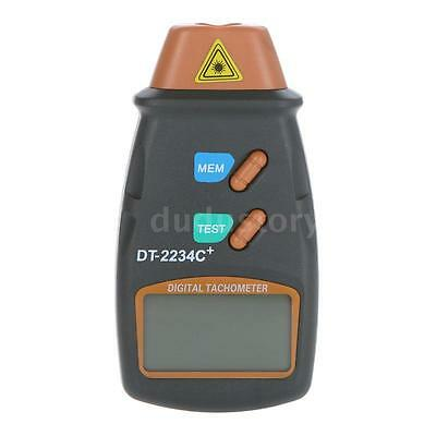 Digital Laser Tachometer Engine RPM Contact Non Photo Speed Motor Gauge LCD DU