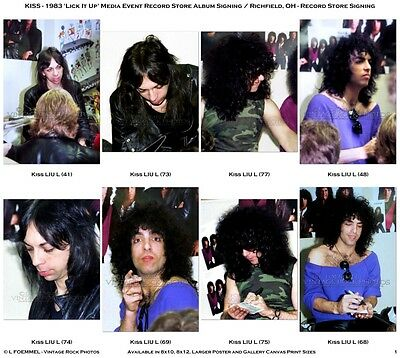 KISS Photos 4x6 in Set of 38 Prints '83 Richfield OH Candid Public Media Event