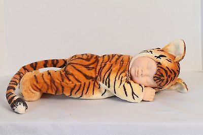 "Anne Geddes 15"" Tiger Sleeping Baby Doll Toy 2000"