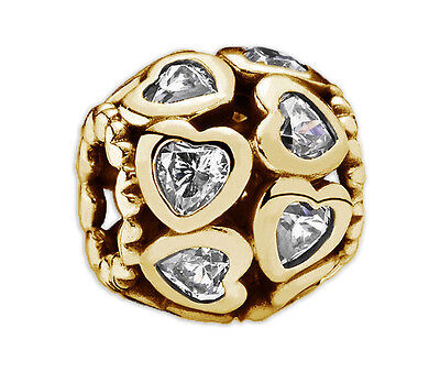New Authentic PANDORA 24K Heavy Gold Plated Sterling Silver Charm 791250
