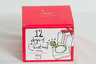 Lenox 12 Days of Christmas Dip Bowl with Spreader NEW NIB