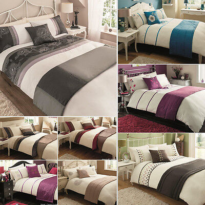 5Pcs Bed in a Bag Luxury Duvet Quilt Cover, Pillowcase & Cushion. 100% Polyester