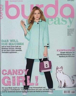 8dec83a5f9bfe8 burda easy Herbst/Winter 2012 - Prinzesskleid Longjacke Materialmix  Glamour-Out