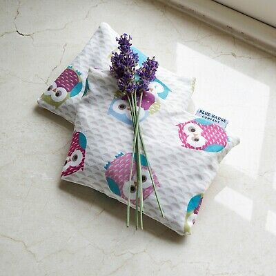 Microwavable Lavender Scented Wheat Warmer, Heated Bag in Owls Pattern